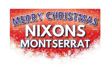 montserrat: NIXONS MONTSERRAT  Merry Christmas greeting card
