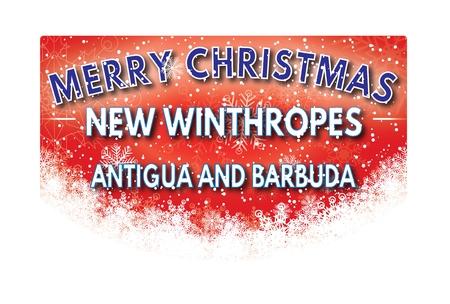 antigua and barbuda: NEW WINTHROPES ANTIGUA AND BARBUDA  Merry Christmas greeting card Stock Photo