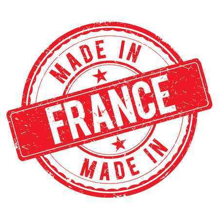 made: Made in FRANCE stamp Stock Photo