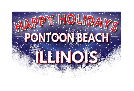 pontoon: PONTOON BEACH ILLINOIS  Happy Holidays greeting card Stock Photo