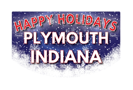 indiana: PLYMOUTH INDIANA  Happy Holidays greeting card Stock Photo