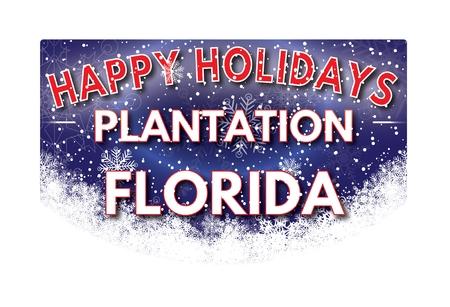 plantation: PLANTATION FLORIDA  Happy Holidays greeting card