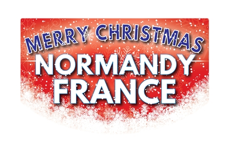 normandy: NORMANDY FRANCE  Merry Christmas greeting card Stock Photo