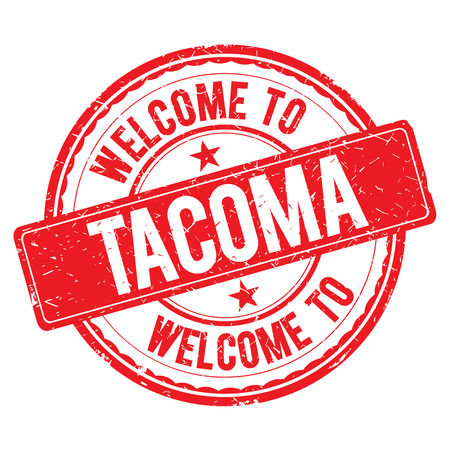 tacoma: TACOMA. Welcome to stamp sign illustration