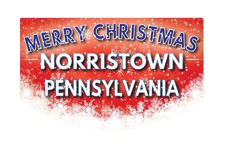 pennsylvania: NORRISTOWN PENNSYLVANIA  Merry Christmas greeting card