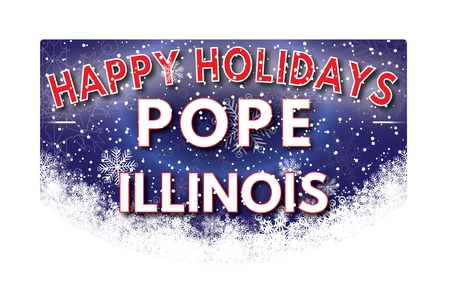 pope: POPE ILLINOIS  Happy Holidays greeting card