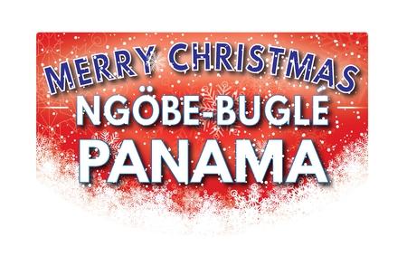 bugle: NGOBE BUGLE PANAMA  Merry Christmas greeting card