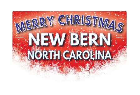 Carte de voeux NEW BERN CAROLINE DU NORD Joyeux Noël Banque d'images - 67603821