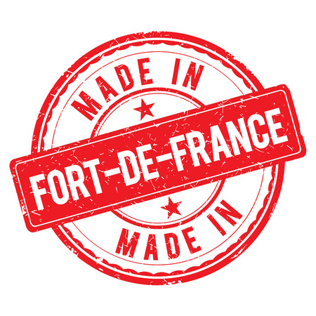 made: Made in FORT-DE-FRANCE stamp Stock Photo