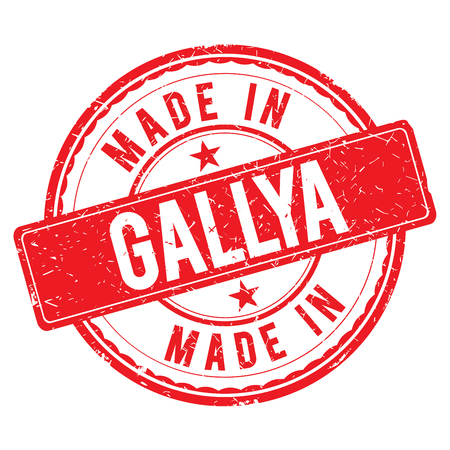made: Made in GALLYA stamp