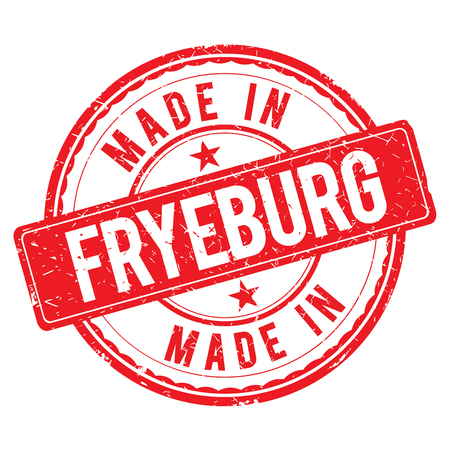 made: Made in FRYEBURG stamp Stock Photo