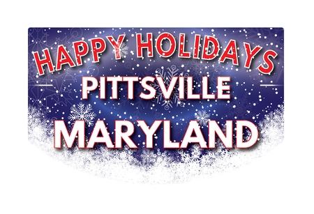 maryland: PITTSVILLE MARYLAND  Happy Holidays greeting card Stock Photo