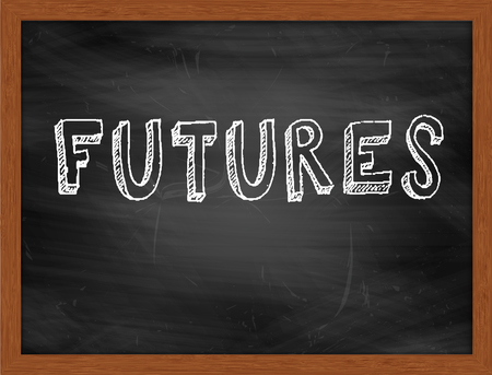 futures: FUTURES  hand writing text on black chalkboard