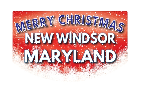 windsor: NEW WINDSOR MARYLAND  Merry Christmas greeting card