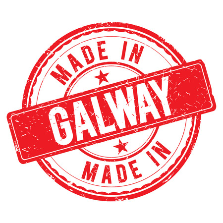 made: Made in GALWAY stamp Stock Photo
