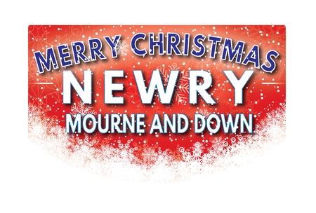mourne: NEWRY  MOURNE AND DOWN  Merry Christmas greeting card