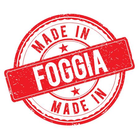 foggia: Made in FOGGIA stamp
