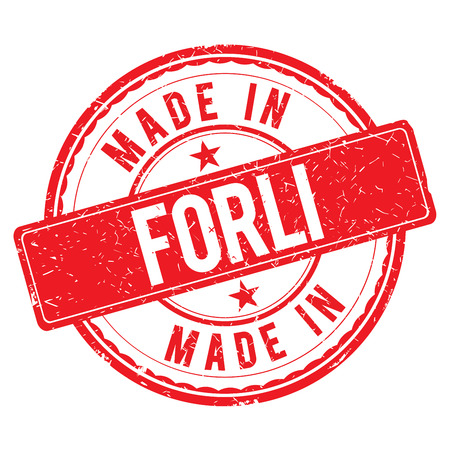 made: Made in FORLI stamp Stock Photo