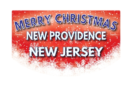 xm: NEW PROVIDENCE NEW JERSEY  Merry Christmas greeting card