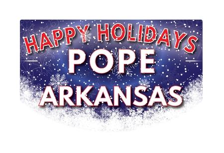 pope: POPE ARKANSAS  Happy Holidays greeting card