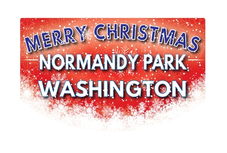 normandy: NORMANDY PARK WASHINGTON  Merry Christmas greeting card