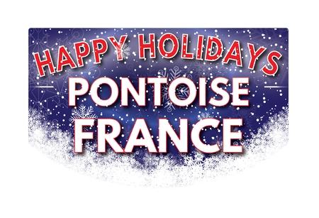 pontoise: PONTOISE FRANCE  Happy Holidays greeting card