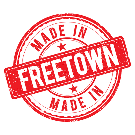 made: Made in FREETOWN stamp Stock Photo