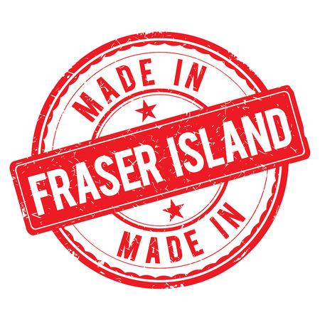 fraser: Made in FRASER ISLAND stamp Stock Photo