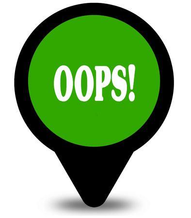 OOPS op grafische afbeelding groene locatie