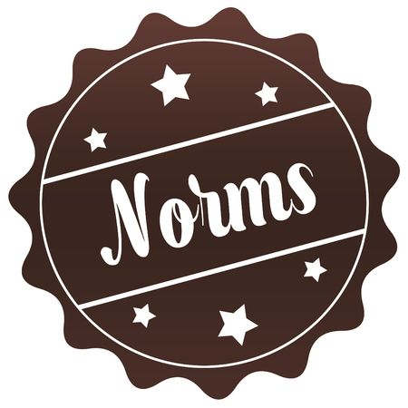 norms: Brown NORMS stamp on white background. Illustration