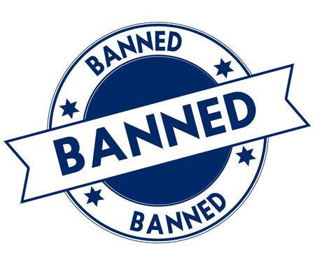 banned: Blue BANNED stamp.