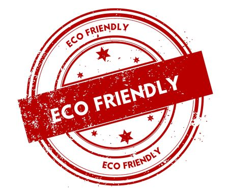 eco slogan: ECO FRIENDLY distressed red stamp. Stock Photo