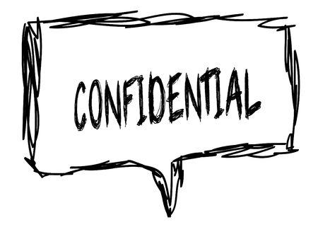 CONFIDENTIAL on a pencil sketched sign.