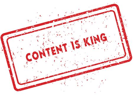 Red CONTENT IS KING rubber stamp