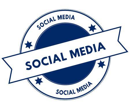 Blue SOCIAL MEDIA stamp.