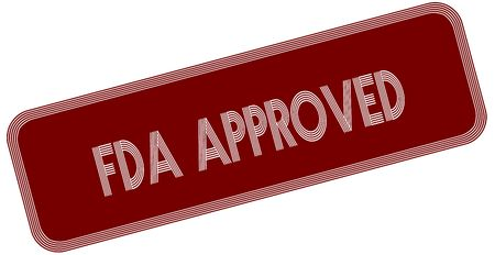 FDA APPROVED on red label. Illustration graphic concept image Stock Photo