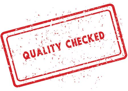 Red QUALITY CHECKED rubber stamp. Illustration graphic image concept