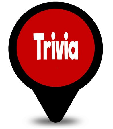 TRIVIA on red location pointer illustration graphic