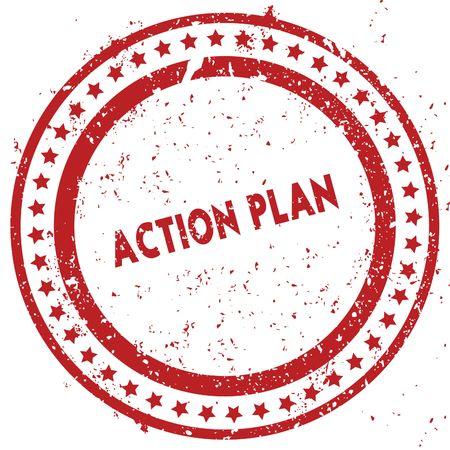 グランジ テクスチャとスタンプを苦しめた赤行動計画。図