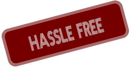 HASSLE FREE on red label. Illustration graphic concept image Reklamní fotografie