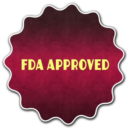 FDA APPROVED round badge illustration graphic concept image