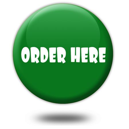 ORDER HERE on green 3d button. Illustration graphic design concept image