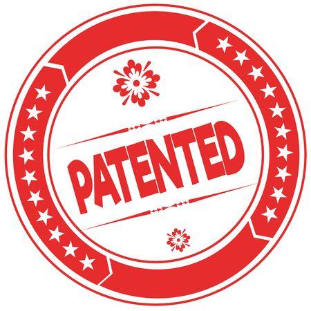 PATENTED orange stamp. Illustration graphic concept image Stock Photo