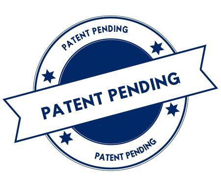 Blue PATENT PENDING stamp. Illustration graphic concept image