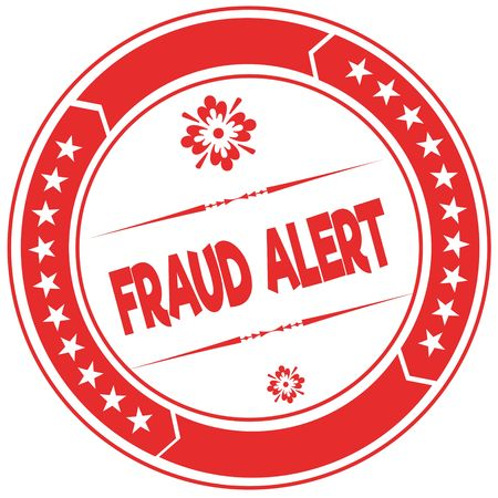 FRAUD ALERT orange stamp. Illustration graphic concept image