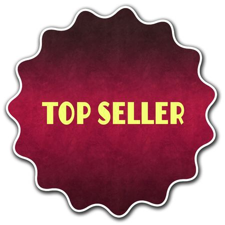 TOP SELLER round badge illustration graphic concept image Stock Photo