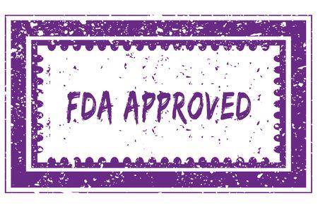 FDA APPROVED in magenta grunge square frame stamp. illustration image Stock Photo