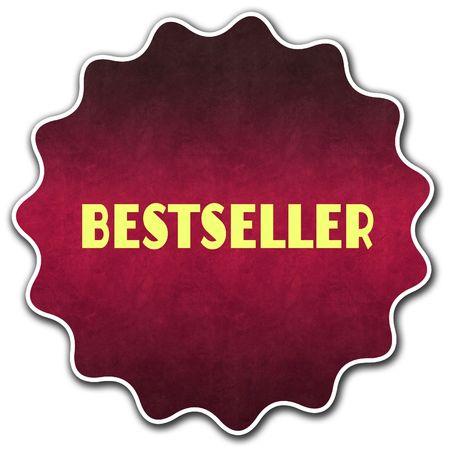 BESTSELLER round badge illustration graphic concept image