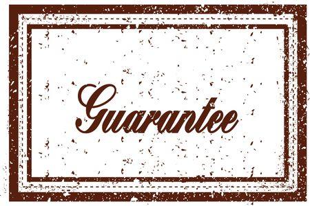 GUARANTEE brown square distressed stamp. Illustration image Stock Illustration - 93305460