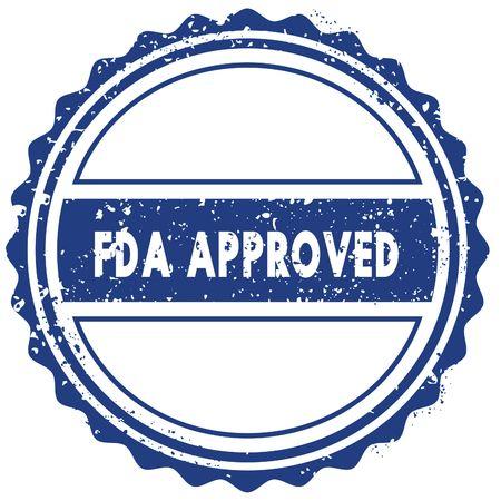 FDA APPROVED stamp. sticker. seal. blue round grunge vintage ribbon sign. illustration Stock Photo